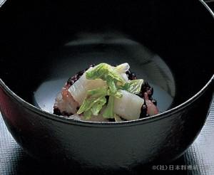 白菜黒米飯蒸し