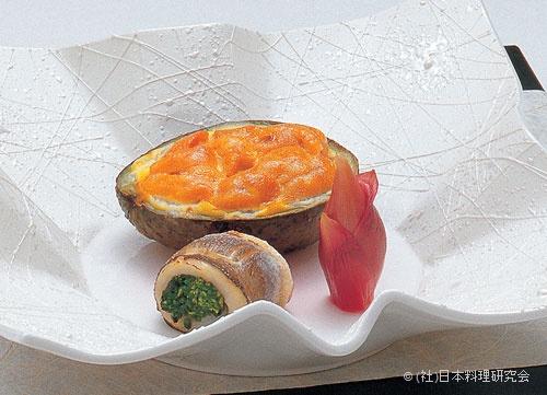 かます菜種焼、アボカド釜焼