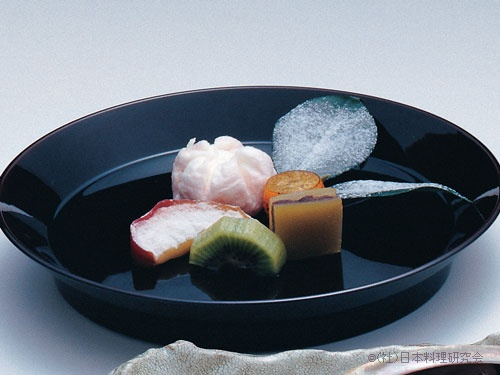 梅マシュマロ、焼金柑蜜煮、土佐文旦最中、粉吹き焼りんご