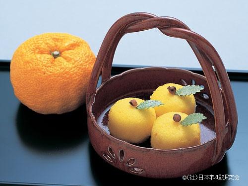 柚子のカステラ饅頭