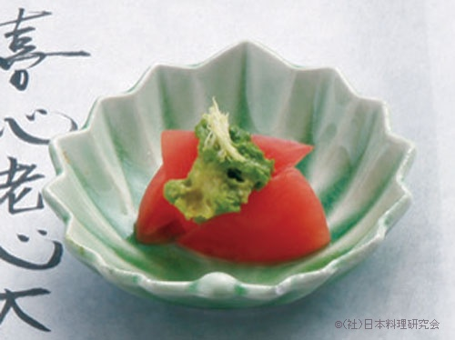 赤茄子山葵和え