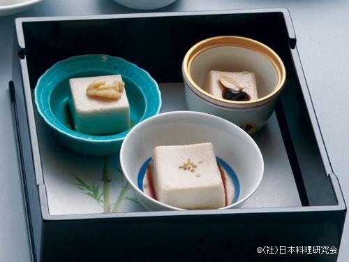 胡麻豆腐、胡桃豆腐、落花生豆腐