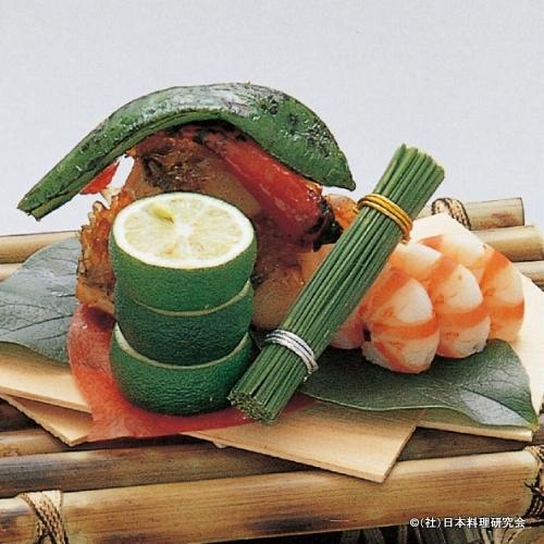 鱗付甘鯛海老香り焼