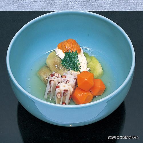 丸茄子揚煮、蓮根スープ煮、人参含め