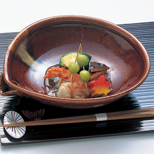 蟹玉菠薐草巻、才巻土佐漬、松茸昆布〆、揚銀杏、松葉素