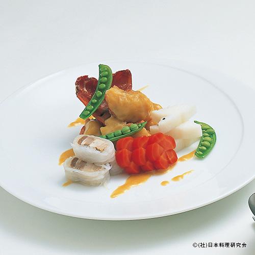 伊勢海老西京煮、豚バラ肉白滝巻
