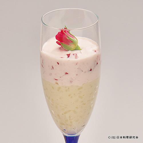 米プリンと苺クリーム