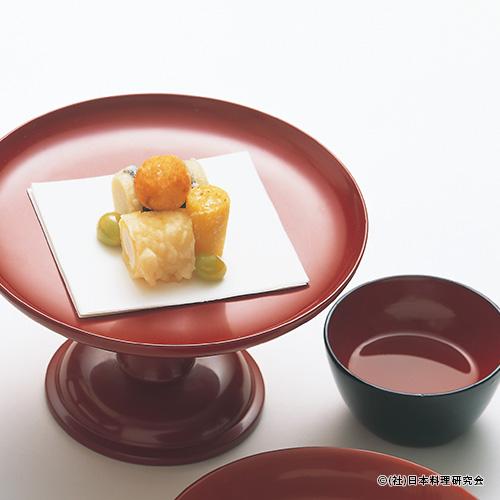 凍み豆腐、柚子包み揚、慈姑磯辺揚、丸十薄衣揚、人参香揚、銀杏素揚