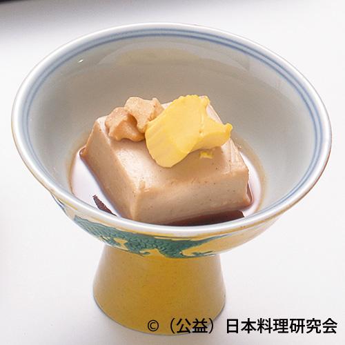 胡桃豆腐・公孫樹見立て