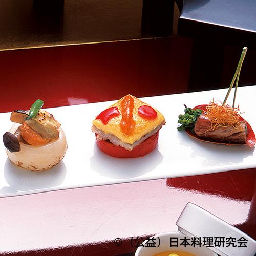 太刀魚黄金焼、蕪海鮮クリーム焼、牛ロースバジルソース焼
