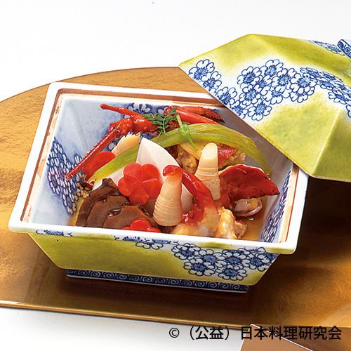 柔らか伊勢和蘭黄身煮、海老芋白煮、新筍土佐煮等