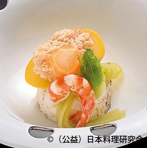 鯛の子旨煮、つの字海老、長芋白煮、蕗青煮