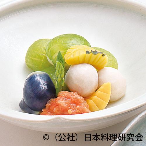冬瓜饅頭、木の葉南瓜、小芋含ませ煮等