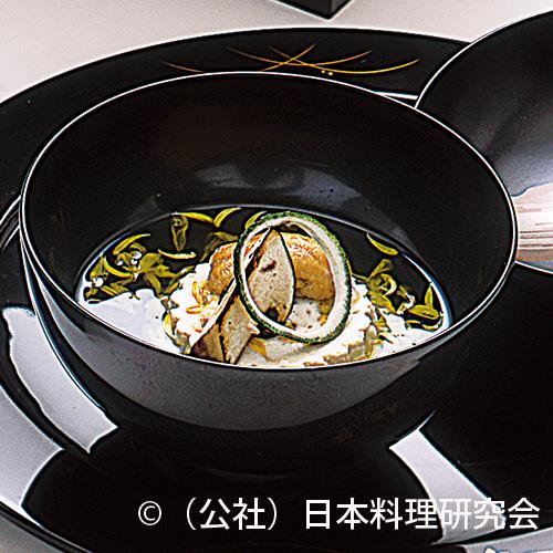 菊花白子豆腐