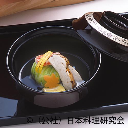 清汁仕立、ずわい蟹糝薯キャベツ包み