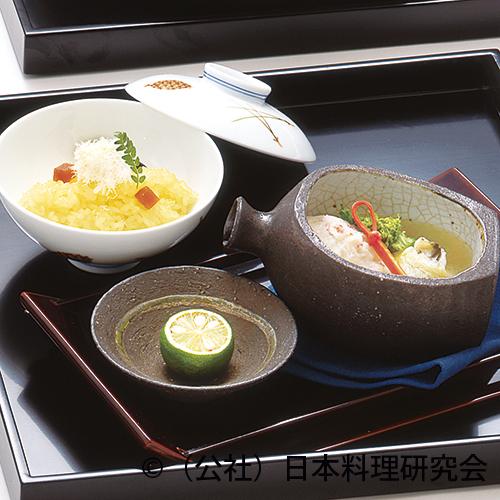 徳利蒸し、蟹糝薯、牡蠣