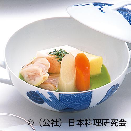菱型糝薯、蛤艶煮、篠独活、篠人参
