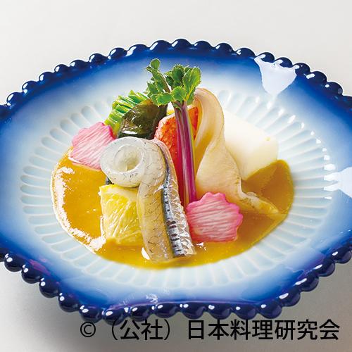 細魚、花海松貝、ずわい蟹二身